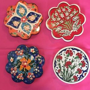 Turkish handmade ceramic coasters 🧿🧿🧿🧿🧿